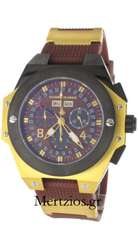 Chase Durer Conquest Chronograph Brown Watch 01097-07-6