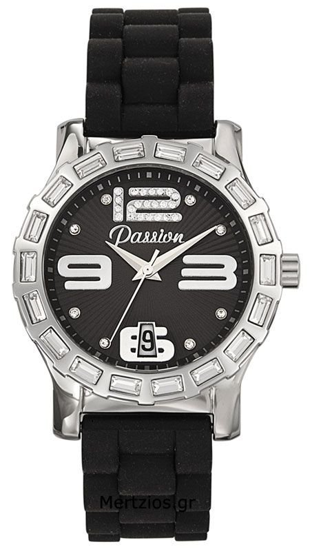 Passion Black Rubber Watch 10287