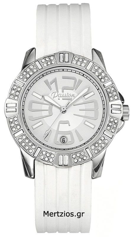 Passion White Rubber Watch 10293
