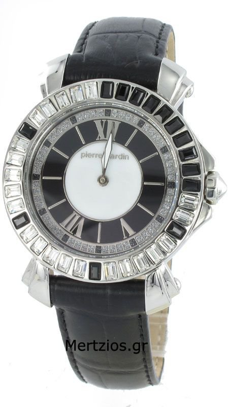 Pierre Cardin White-Black Crystal Watch 103642F03