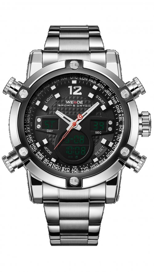 Weide multifunction silver watch WD10371