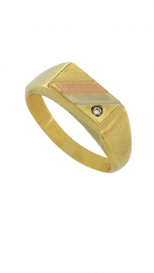 Ανδρικό δαχτυλίδι χρυσό 14 καράτια με ζιργκόν  792eeac101a