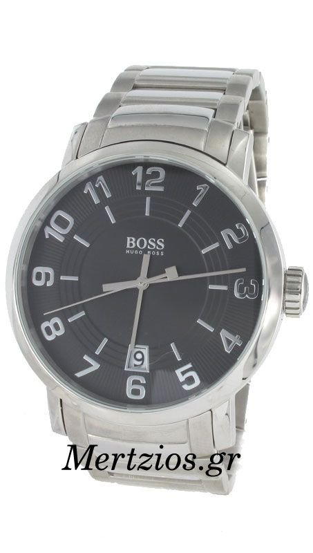Hugo Boss Stainless Steel Black Date Watch 1512362
