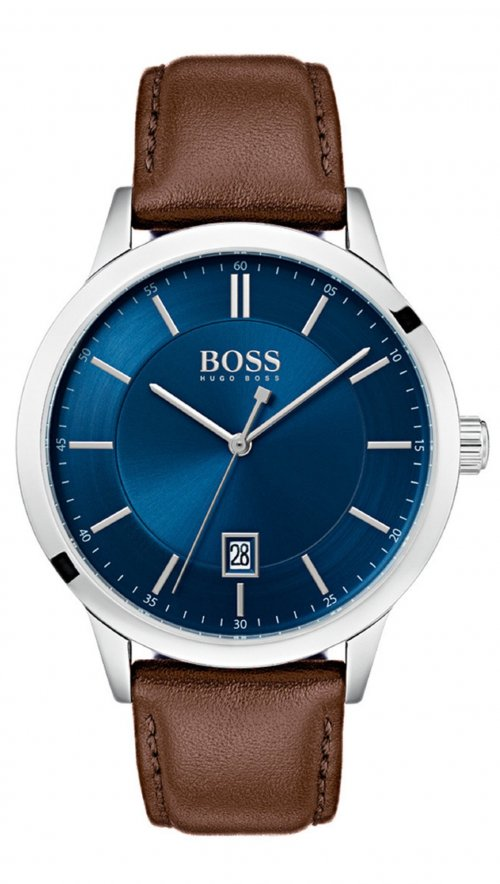 8363b73a0444 Hugo Boss Officer date brown watch 1513612 | Mertzios.gr