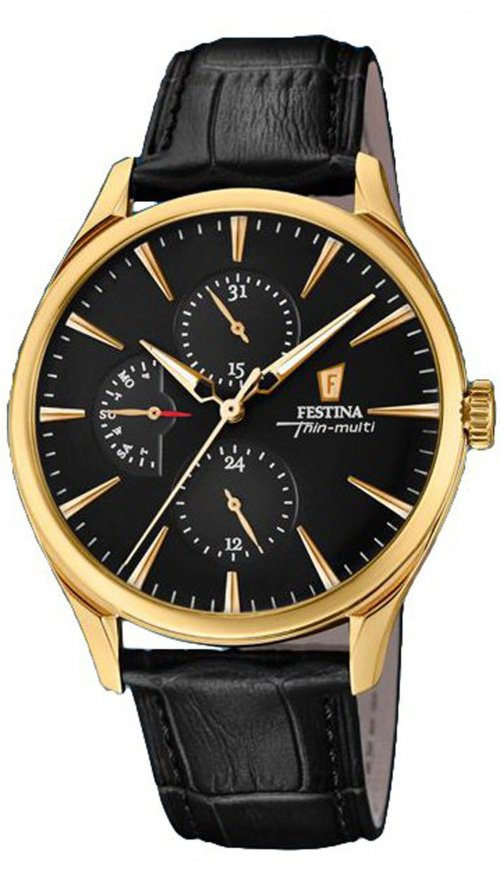 eb492efac66 Festina Retro multifunction black watch F16993 2