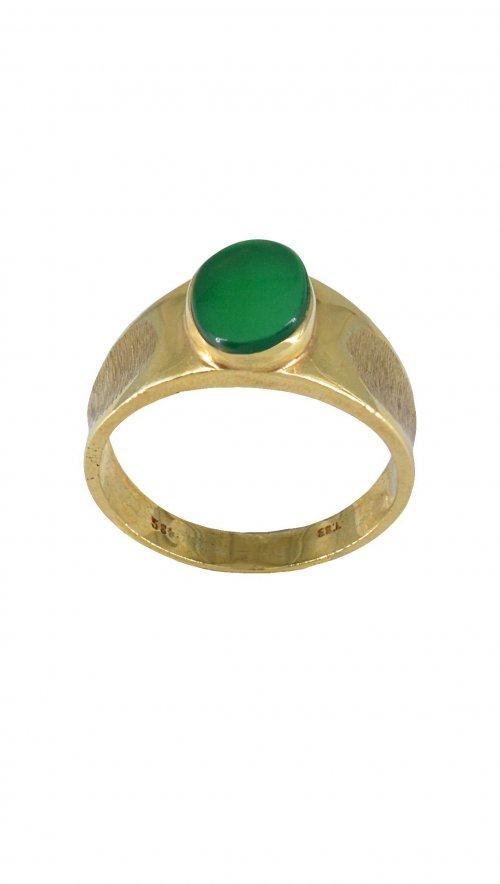 Ανδρικό δαχτυλίδι χρυσό 14 καράτια με πράσινη πέτρα  4299da8a7d3