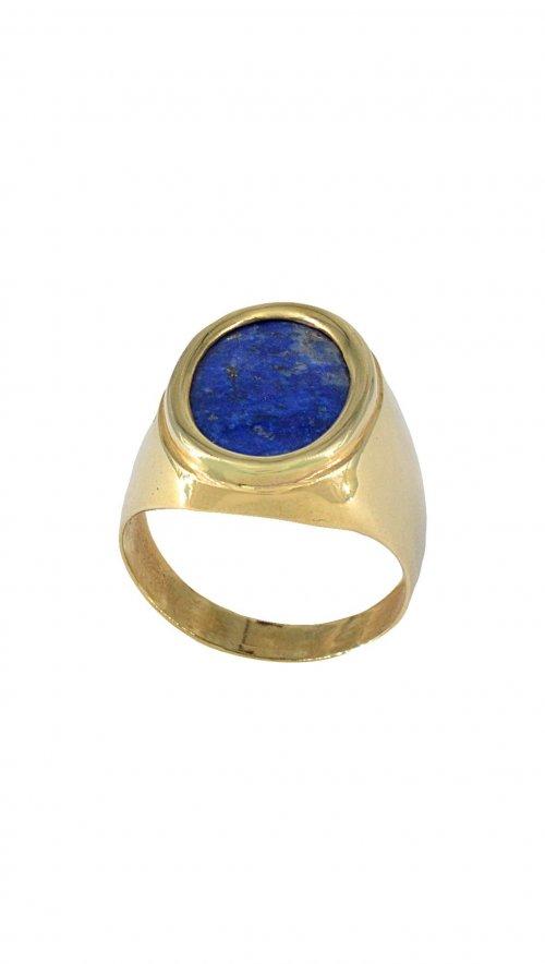 Ανδρικό δαχτυλίδι χρυσό 14 καράτια με μπλέ πέτρα λάπις λάζουλι ... bb97e75054a