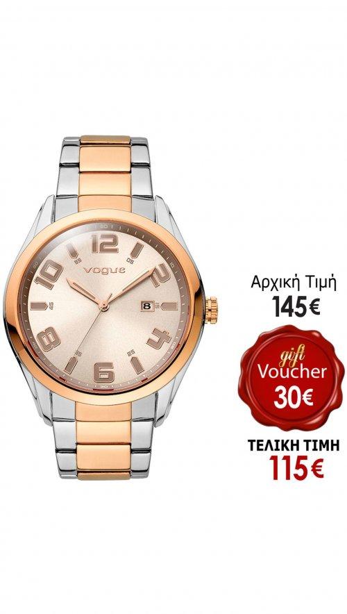 Ρολόι Vogue Fresh με ρόζ χρυσό   ασημί μπρασελέ 77013.1a  5f7c7255ced