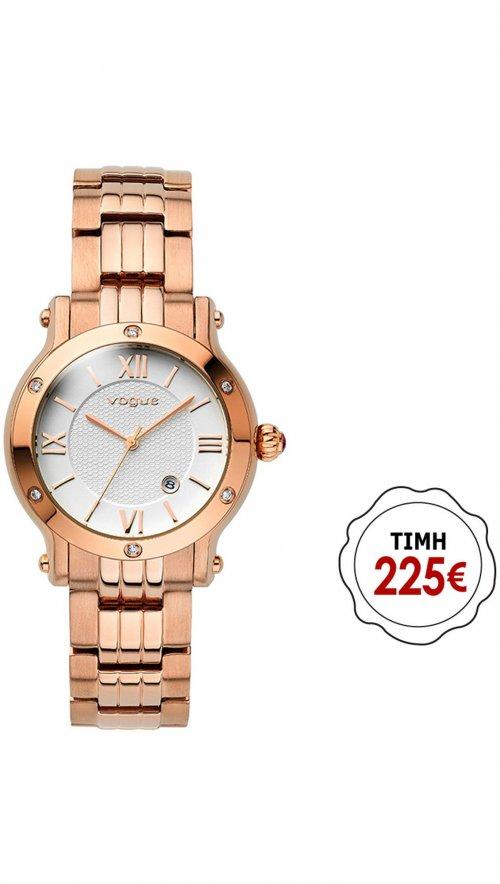 Ρολόι Vogue Mini Grace με ρόζ χρυσό μπρασελέ και κρύσταλλα swarovski 97008.2 e96bd8c691e