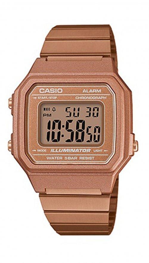Ρολόι Casio ψηφιακό με ροζ χρυσό μπρασελέ B650WC-5AEF  e23194da1a0