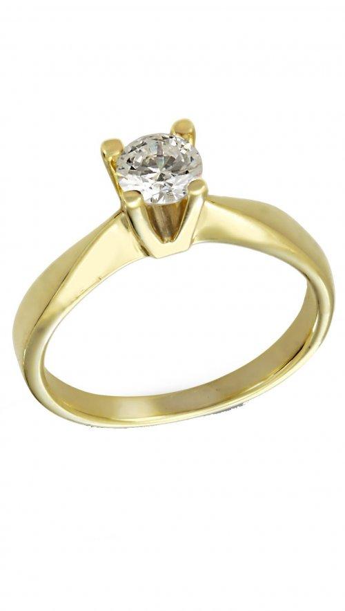 Δαχτυλίδι μονόπετρο χρυσό 14 καράτια με λευκό ζιργκόν swarovski ... 1327c97ca8b