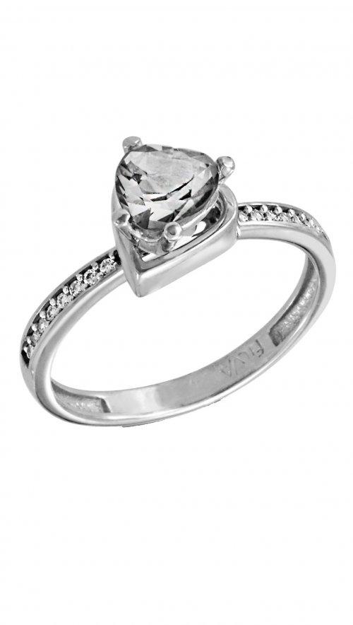 Δαχτυλίδι μονόπετρο λευκόχρυσο 14 καράτια με ζιργκόν swarovski ... 1600adeaf42