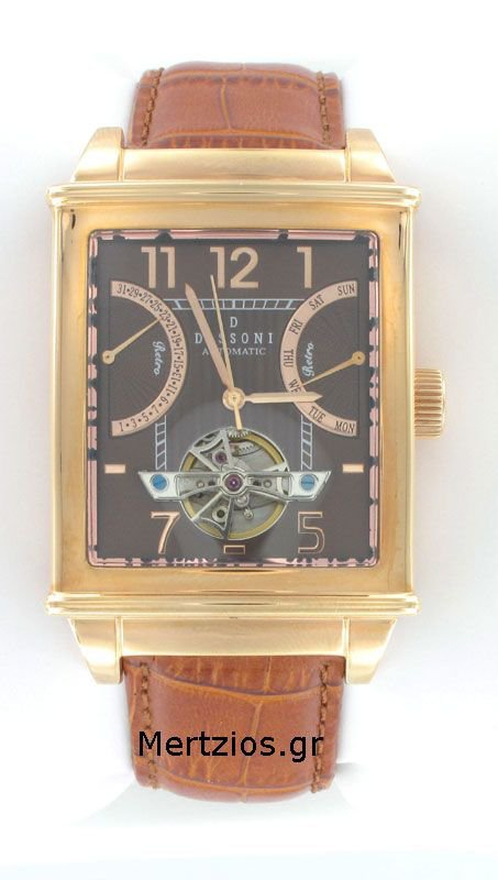 Dissoni Rose Gold Steel Automatic Calendar Watch D151