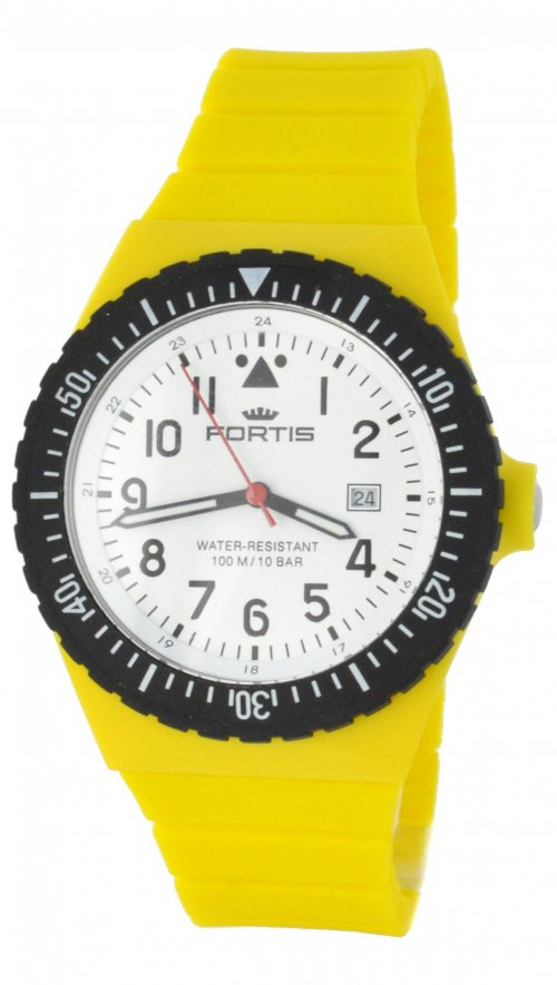 Fortis Colors Yellow Unisex Watch with white dial C04 | Mertzios.gr