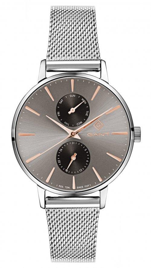 Ρολόι Gant Park Avenue με ημέρα ημερομηνία και ασημί μπρασελέ G128002 fc7bf87c6fc