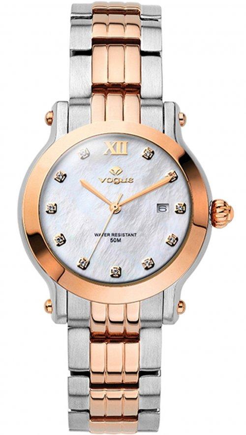 Ρολόι Vogue Grace mini με ρόζ χρυσό και ασημί μπρασελέ 77009.1a ... 27c6e4ddeba