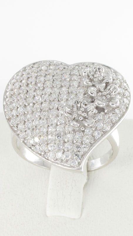 Δαχτυλίδι Καρδιά PrinceS Ασημένιο 925 Με Ζιργκόν  99c9b5da280
