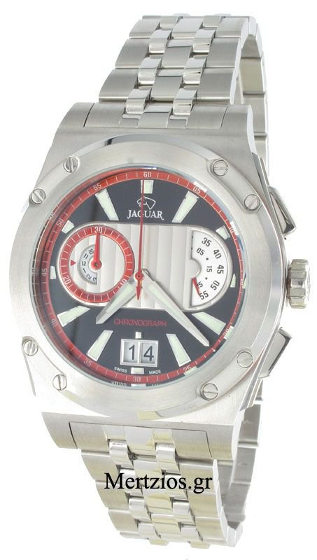 Jaguar steel chronograph watch J613/3