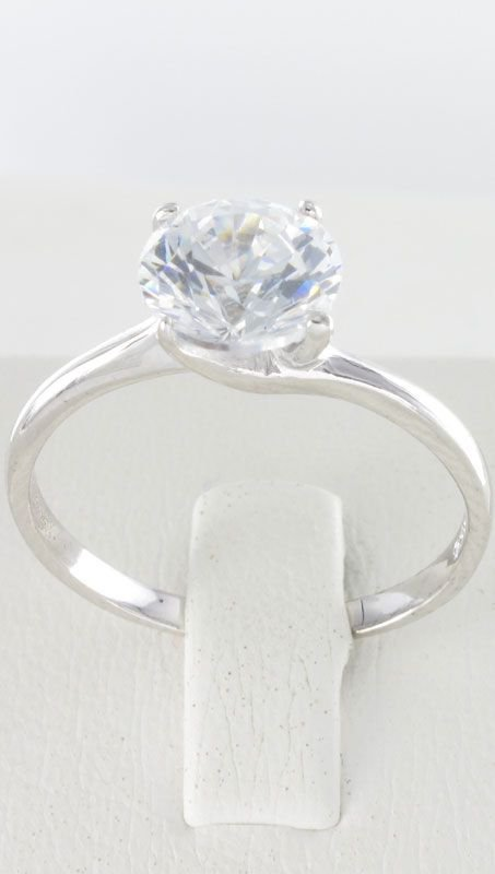 Δαχτυλίδι Μονόπετρο Ασημένιο PrinceS 925 με Ζιργκόν  4d239f67c4a
