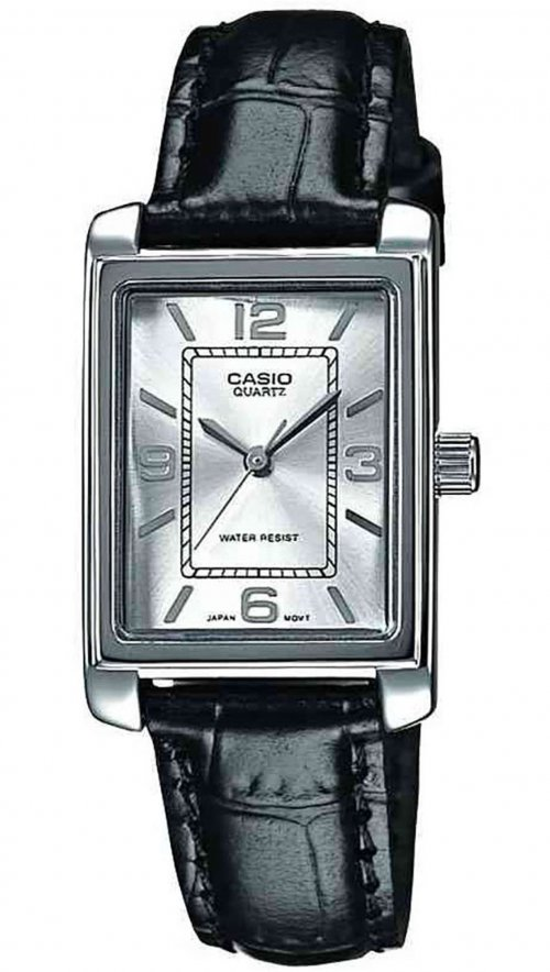 Γυναικείο ρολόι Casio Collection με μαύρο λουράκι LTP-1234PL-7AEF ... e91bae217ad