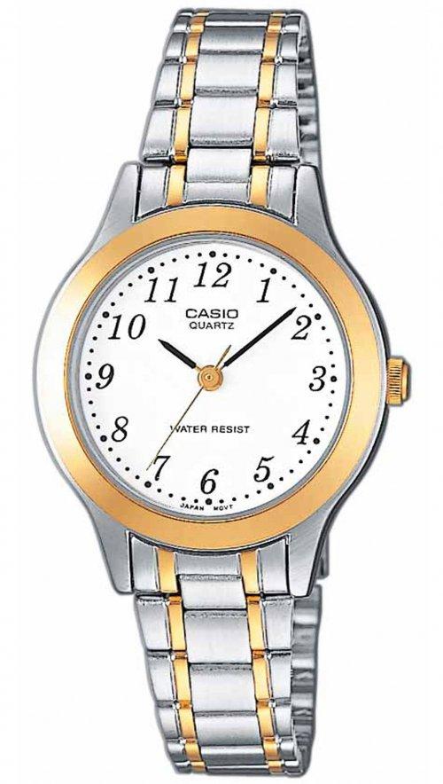 Γυναικείο ρολόι Casio Collection με ασημί και χρυσό μπρασελέ LTP-1263PG-7BEF a451af2caaf