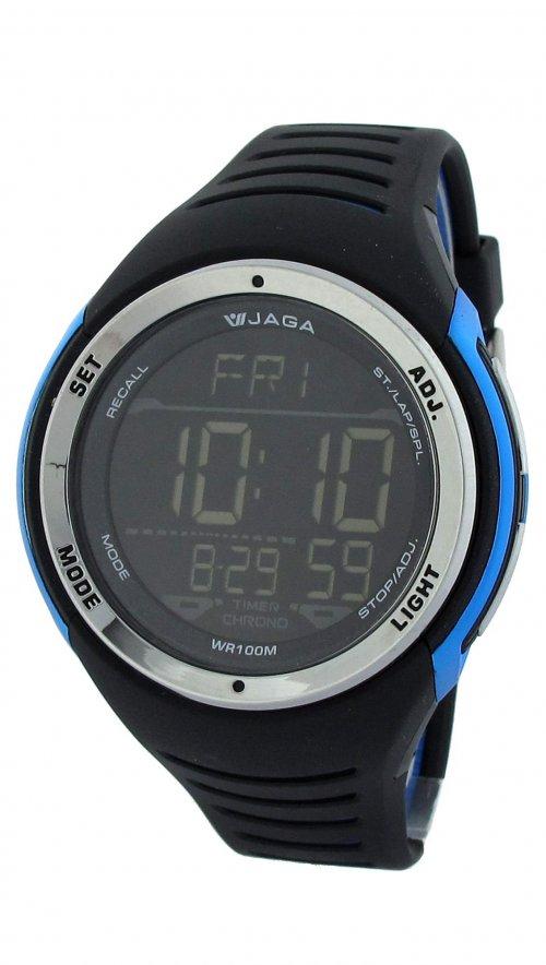 Ρολόι ψηφιακό Jaga με μαύρο λουράκι M0951  7123623bb88