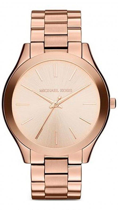 Ρολόι Michael Kors Slim με ροζ χρυσό μπρασελέ MK3197  713f22eeb65
