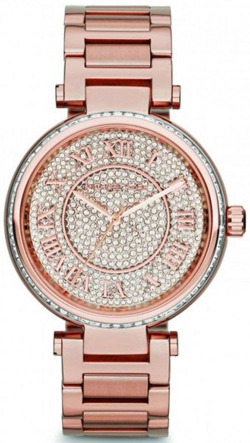 Ρολόι Michael Kors Skylar με ρόζ χρυσό μπρασελέ και κρύσταλλα swarovski  MK5868 dd1d93fdad4