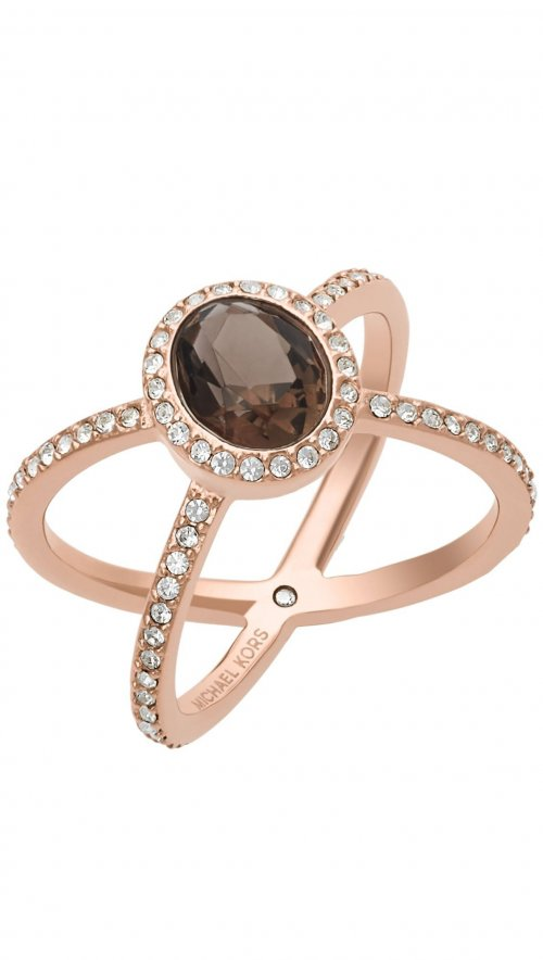 michael kors rosegold steel ring with logo mkj5916. Black Bedroom Furniture Sets. Home Design Ideas