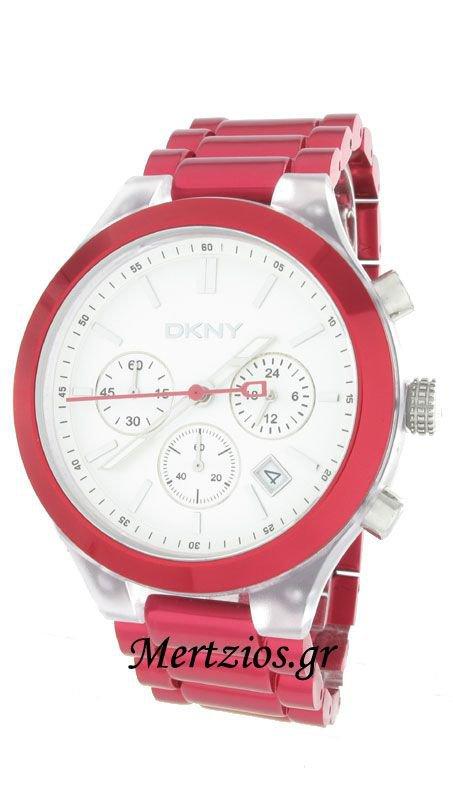 Ρολόι DKNY χρονογράφος με κόκκινο μπρασελέ NY8266  c5c1eaa4475
