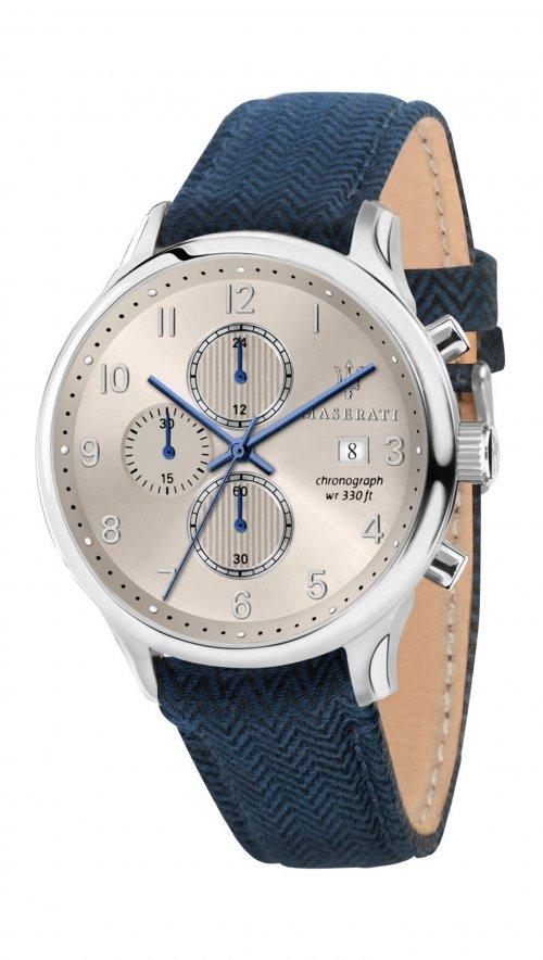 d4cb64cdb1 Ρολόι Maserati Gentleman χρονογράφος με μπλε λουράκι R8871636004 ...