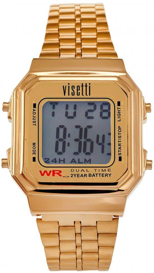 Ρολόι Visetti Retro Series ψηφιακό με χρυσό μπρασελέ RI-007G ... 8a3b1bd1bc7