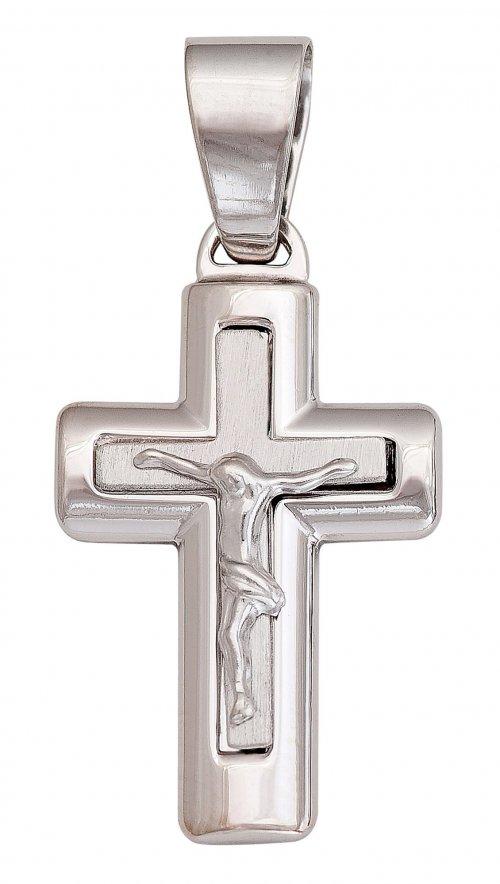 Σταυρός ασήμι 925 λουστρέ με Τον Εσταυρωμένο  d79fe3b1c28