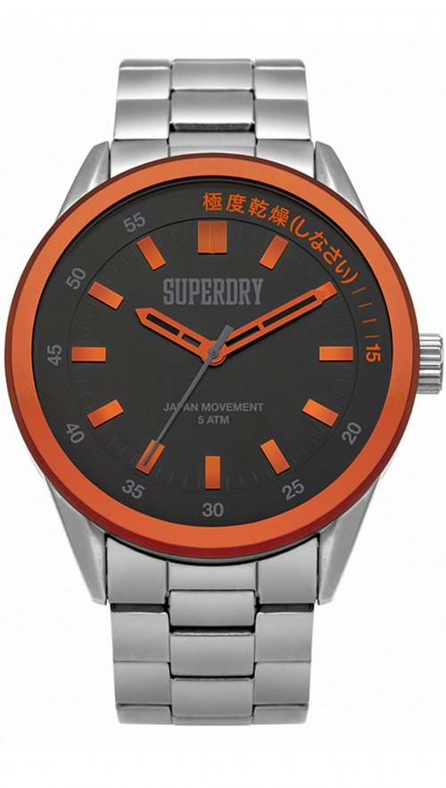 Superdry Regent Corporal steel watch SYG207BSM