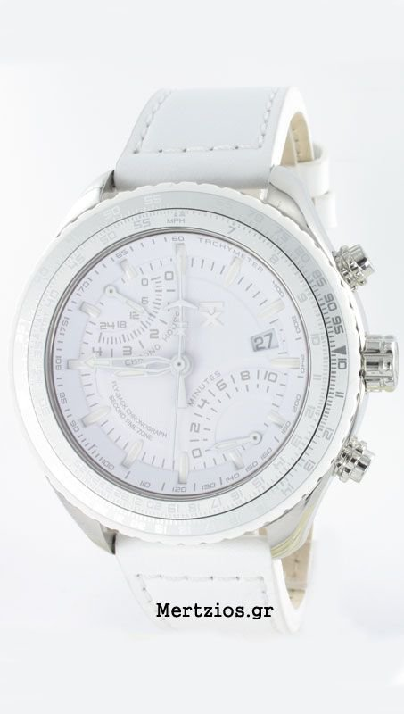TX TechnoLuxury Fly Back Chrono All White watch T3C508