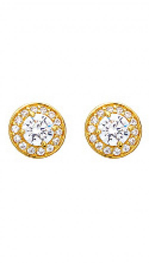 Vogue gold silver 925 earrings with zircon