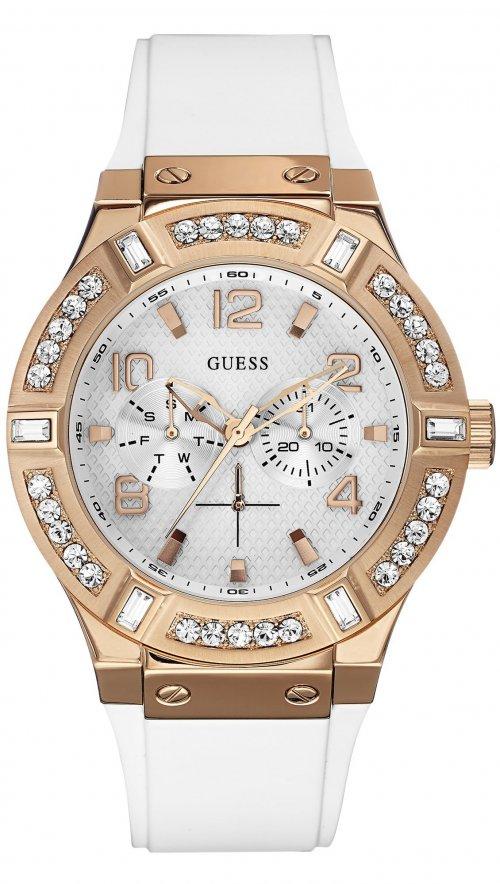 Ρολόι Guess πολλαπλών ενδείξεων με λευκό λουράκι W0614L1  1cc8be6ec60