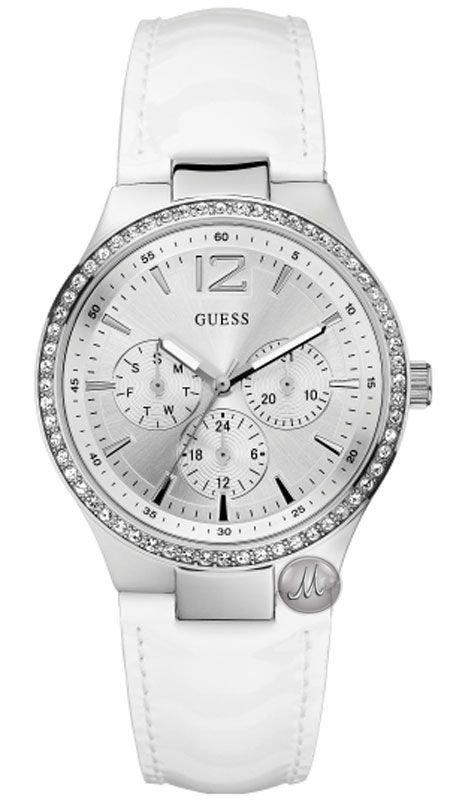 Ρολόι Guess με λευκό λουράκι W11586L3  4f519c3c261