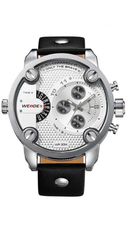 Ρολόι Weide με διπλή ώρα και μαύρο λουράκι WD10252  df04ca62762