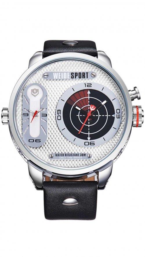 Ρολόι Weide με διπλή ώρα και μαύρο λουράκι WD10196  9fc8598c52a
