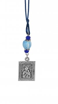 Mertzios.gr Car pendant with Holy Mary and St Christofer