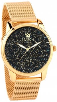 Season Time Season Time Dazzling Steel Series gold watch 6-4-14-7