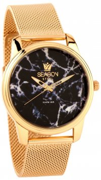 Season Time Season Time Marble Steel Series gold watch 6-4-16-4