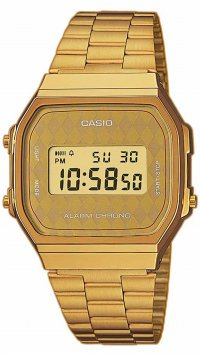 νέο Casio Ρολόι Casio ψηφιακό με χρυσό μπρασελέ A-168WG-9BWEF 8cdb935390a