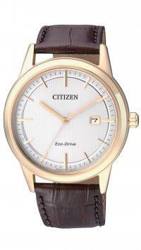 νέο -15% Citizen Ρολόι Citizen Eco-Drive με καφέ λουράκι και ημερομηνία  AW1233-01A 144f0c80e03