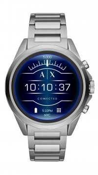 Armani Exchange Ρολόι Armani Exchange Touchscreen Smartwatch με ασημί μπρασελέ AXT2000