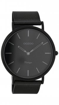 OOZOO OOZOO Timepieces Vintage black watch C7722