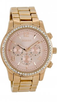 OOZOO OOZOO Timepieces rosegold watch with swarovski C8419
