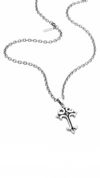 Police Police steel necklace with Cross PJ26182PSS/01