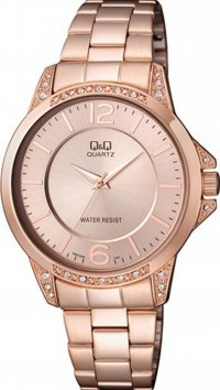 Q&Q Q&Q rose gold steel watch with zirgon Q967J020Y